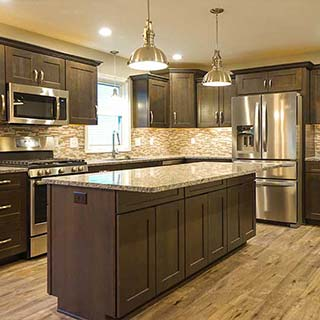 Trendy Kitchen Remodel in Findlay, OH  - Couchot Homes, Inc.