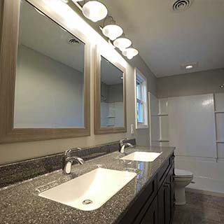 Double Sink Bathroom Remodel in Findlay, OH  - Couchot Homes, Inc.