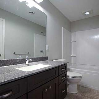 Modern Bathroom Remodel in Findlay, OH  - Couchot Homes, Inc.